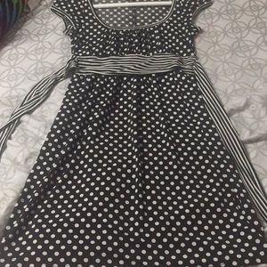 All black  Polkadots dress